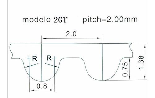 x 6m GT2-10mm abierta seg/ún la elecci/ón de metros 1 Correa dentada GT2 de 10 mm de ancho