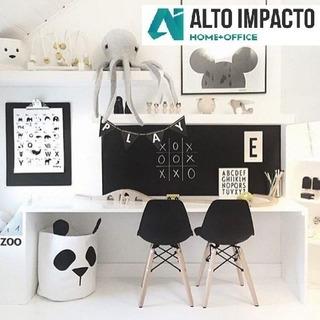 Escritorio Infantil + 2 Silla Eames Kids - Alto Impacto