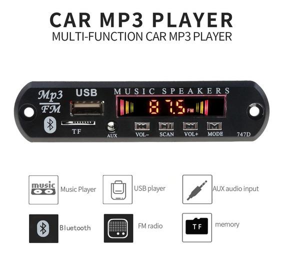 Kit 4 Placas Display Colorido Amplificador Usb/bluethoo