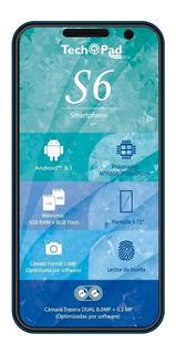 Smartphone Tech Pad S6 Lector De Huellas/doble Cam Wifi 3g