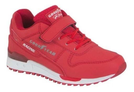 Tenis Casual Goodyear 3794 Rojo Comodos 100% Originales