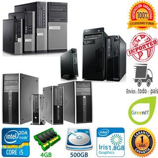 Cpu Core I5 2da Segunda 4gb 500gb Hp Dell Lenovo Slim Torre