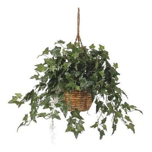 Practicamente Natural Ingles Ivy Hanging Basket Silk Plant