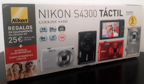 Imagen 1 de 6 de Cámara Nikons4300-táctil-16 Megapixeles-zoom 6x-gran Angular
