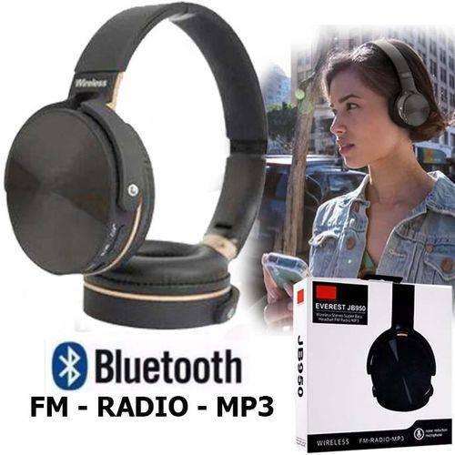 Fone De Ouvido Bluetooth Jb950 Super Bass Radio Cartão Sd