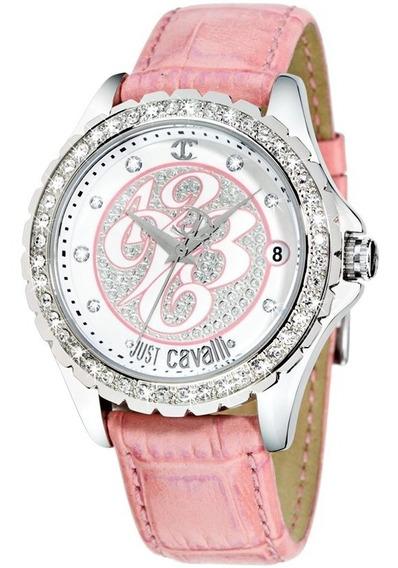 Relógio Feminino Original Prata Pulseira Couro Nota Fiscal