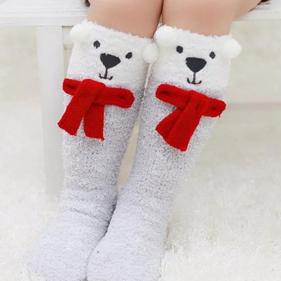 Calcetas Para Niña Animales Unicornio Oso Reno Navidad