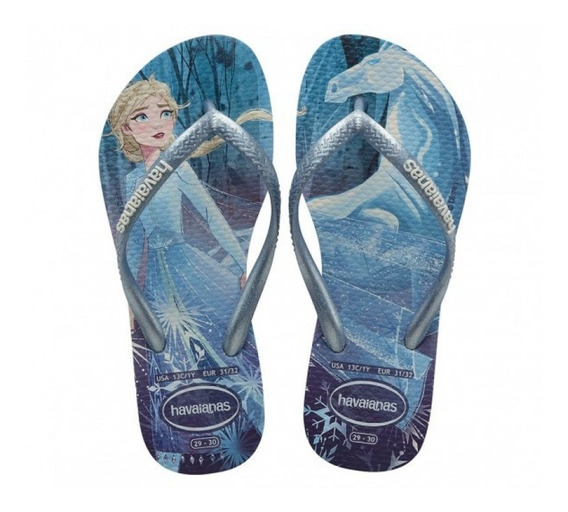 Chinelo Havaianas Kids Slim Frozen Original - Branco