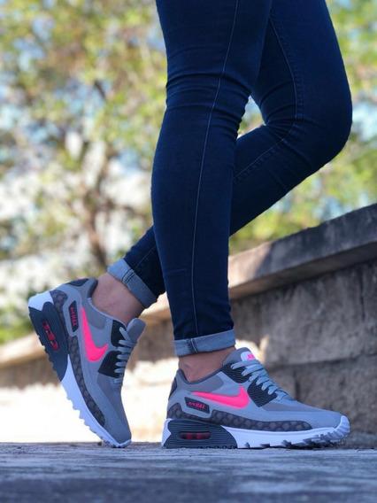 Air Max 90 Blancas Nike Tenis Nike Gris oscuro en Norte De
