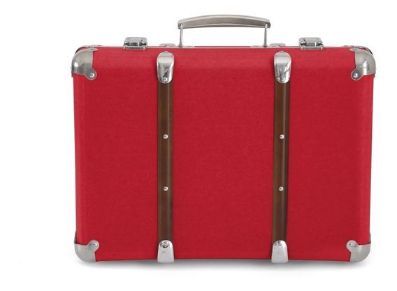 Valija Vintage Cartón Madera Metal Kraft Suitcase Large Gato