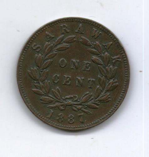 Reino De Sarawak Moneda 1 Cent 1887 Km#6 Vf+ -  Argentvs