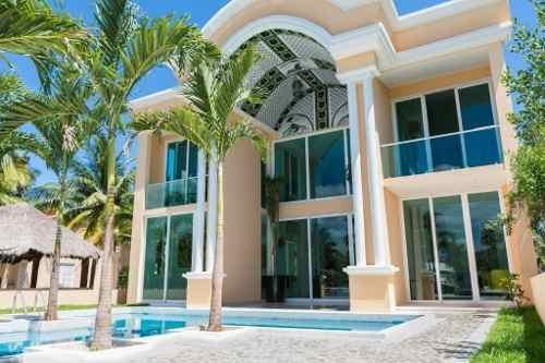 Venta Lujosa Mansion Con Muelle Para Yate Puerto Aventuras P2357