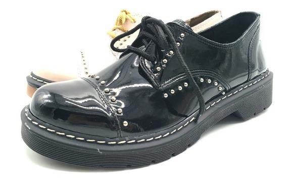 Zapatos Acordona Mujer Borcegos Botas Tachas Savage Doc-6