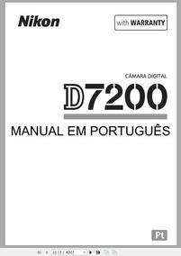 Manual Em Português Para Câmera Nikon D7200