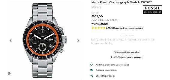 Relógio Fossil Chronograph Ch2673