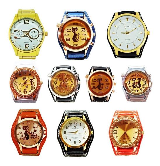 Kit 10 Relógios Feminino Barato Promoção Revenda Lote 38