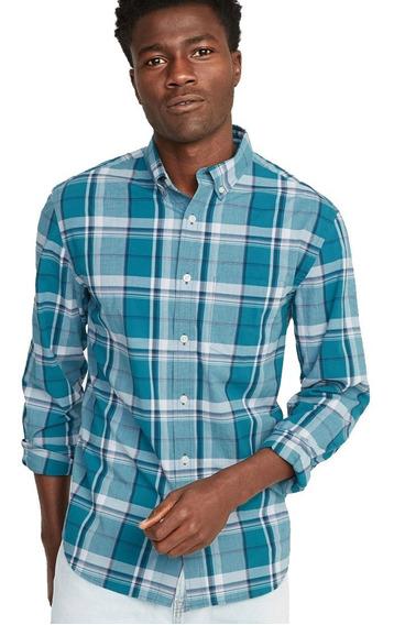 Camisa Hombre Casual Slim-fit Manga Larga Botones Old Navy