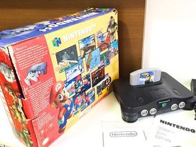 Nintendo 64 Original Na Caixa + 2 Controles + Wave Race 64