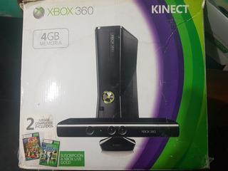 Xbox 360 Slim+5 Juegos Originales+ Kinect