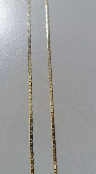 Corrente Cordão Piastrini 1x1 Ouro 18k / 9.89g / 55cm