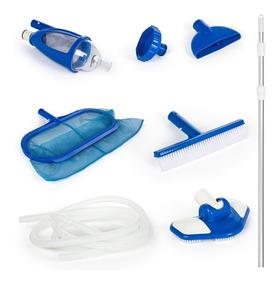 Kit De Limpeza Piscina Deluxe Vacuum Aspirador Escova Intex