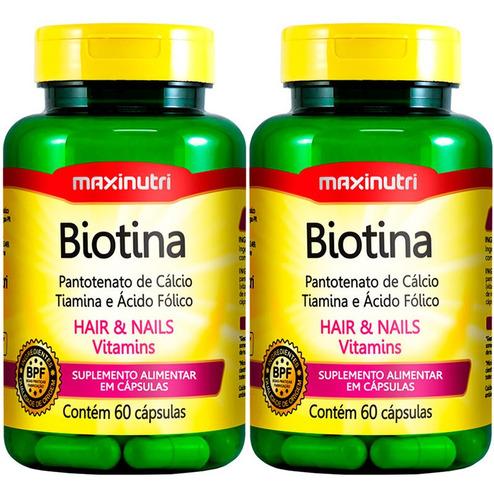 Imagem 1 de 4 de Biotina Firmeza & Crescimento - 2x60 Cápsulas - Maxinutri