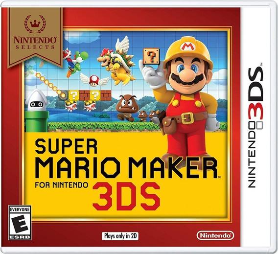 Super Mario Maker 3ds Mídia Física Lacrado Original Novo