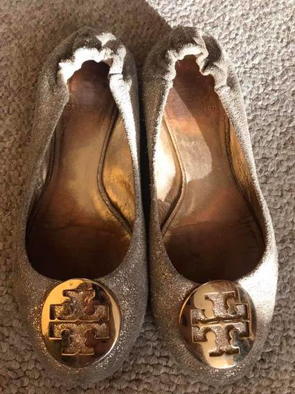 Zapatos Tory Burch Dorados