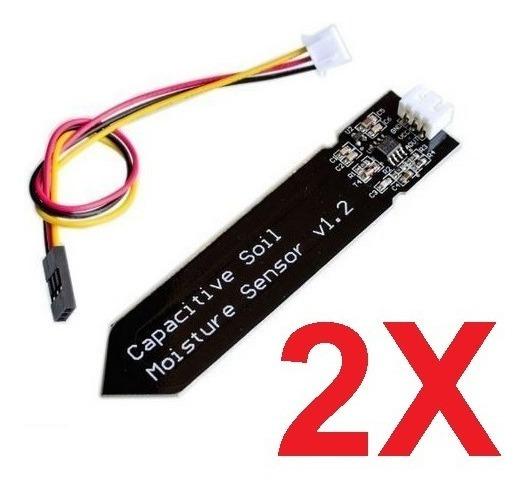 Kit 2 Sensor Capacitivo Umidade Do Solo Arduino Higrômetro