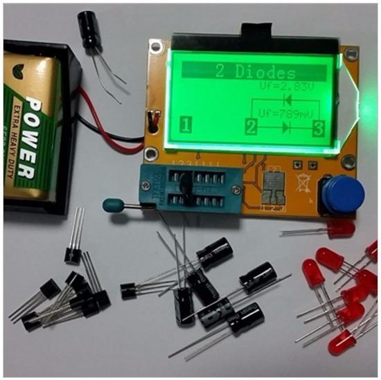 Mega328 Ohmímetro Capacímetro Testador De Esr Transistor