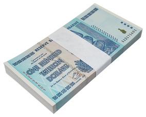 Zimbabwe 1 Notas 100 Trilhões Series Aa/2008
