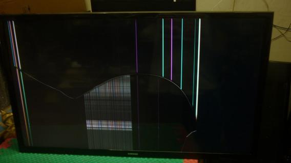 Tv Samsung Un32j4300ag Com Tela Quebrada 300,00 Funcionando