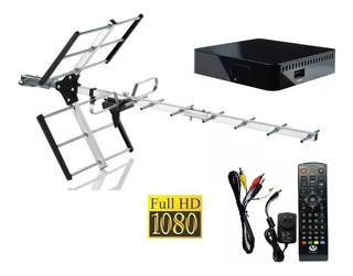 Kit Antena Tda + Deco Full Hd Premium + Cables Coaxil Y Hdmi