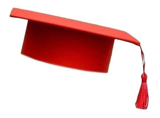 Capelo Formatura Graduação Infantil Ajustável Vermelho