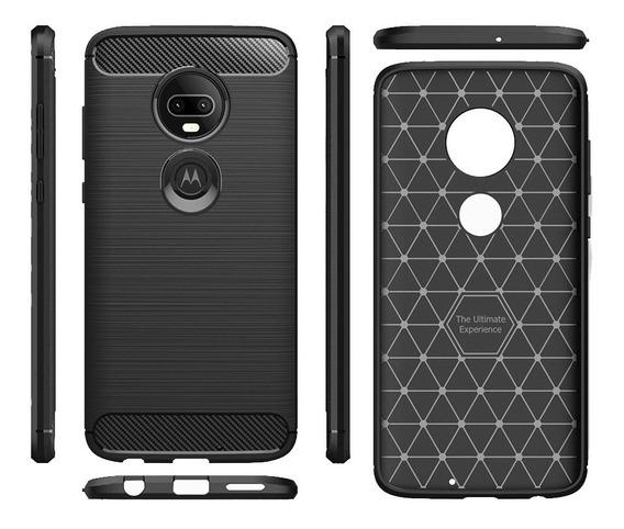 Protector Carbono Moto G7 G6 G5 G4 Z4 Z3 Z2 Z One Vision X4 E4 E5 C Plus Play Droid Force Power Case Funda G8 Motorola