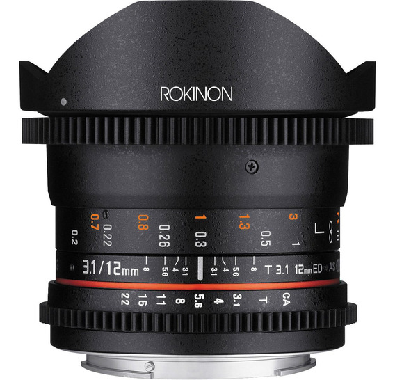 Rokinon 12mm T3.1 Ed As If Ncs Umc Cine Ds Fisheye Lens For