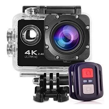 Camera Sport Açao Filmadora Wifi 4k + Sdcard 16 Moto + Cr