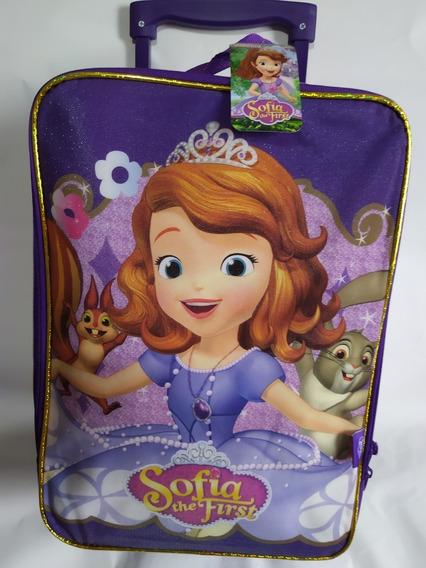 Mochila Infantil Com Rodinhas Escolar Princesa Sofia 47cm