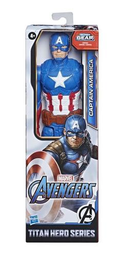 Boneco Articulado Avengers Capitão América Blast Gear Hasbro