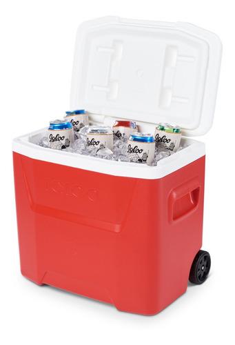 Cooler Igloo 26 Litros Laguna Roller 28qt Alça Telescópica
