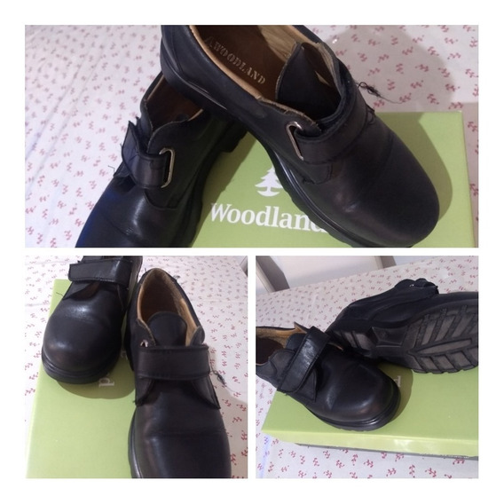 Zapato Colegial Negro Woodland Usado Talle 37