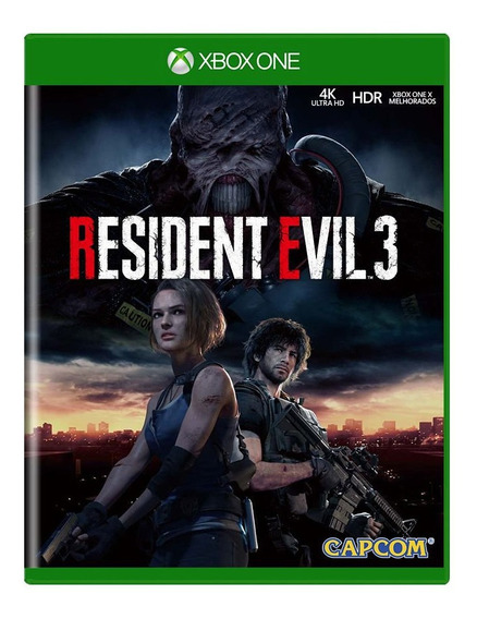 Resident Evil 3 Remake - Xbox One - Mídia Física Lacrado