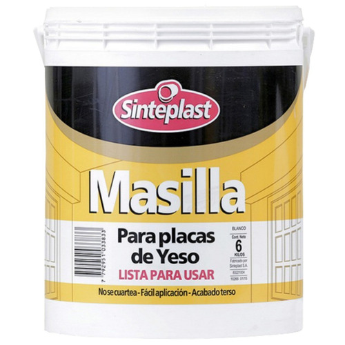 Masilla Para Yeso 6 Kg Sinteplast - Tyt