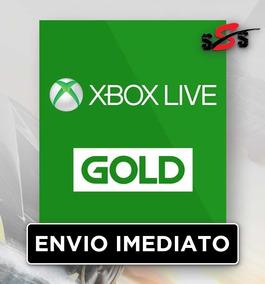 Cartão Xbox One 360 1 Mês Code Gold Live 30 Dias Xb1 Brasil