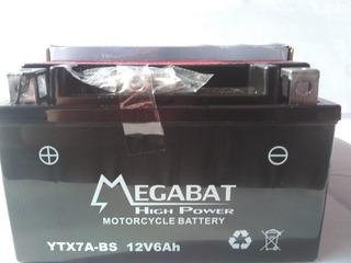 Batería Para Motos Y Cuatriciclos Megabat Ytx7 A Bs