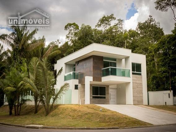 Casa À Venda Com Área De 330 M² De Esquina, 05 Suítes, 06 Banheiros, Varanda Gourmet, Bairro Ponta Negra - Manaus - Alphamaou - 2808736