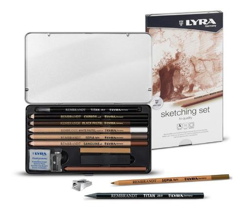 Set Para Bocetar Sketching Lyra 11 Pzs