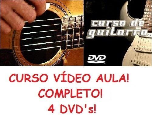 Aulas De Guitarra + Violão Em 4 Dvds D9r