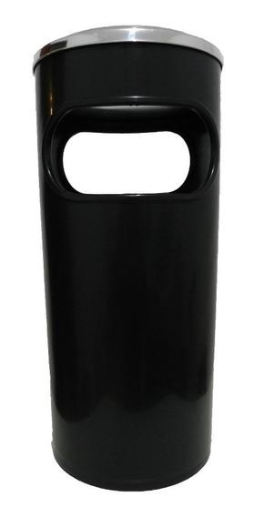 Cinzeiro Lixeira Em Plástico E Aro Em Alumínio C6