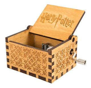 Caixa De Música Tema Harry Potter Manivela Frete Grátis C001